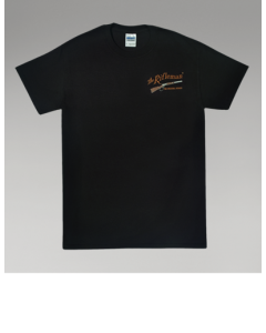 Black Short-Sleeve T-shirt w/o pocket (front)