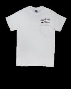 White Short-Sleeve T-shirt w/ pocket (front)