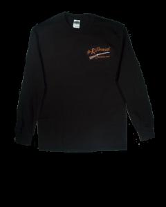Black Long-Sleeve T-shirt w/o pocket (front)