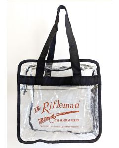Clear Stadium Tote Bag w/ The Rifleman logo