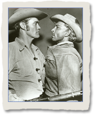 Lee Van Cleef as Dan Maury with Chuck Connors as L
