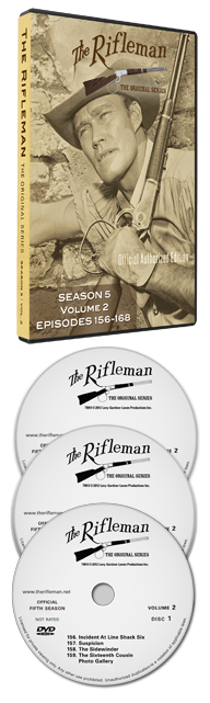 The Rifleman Value Edition DVDs in 2 volumes