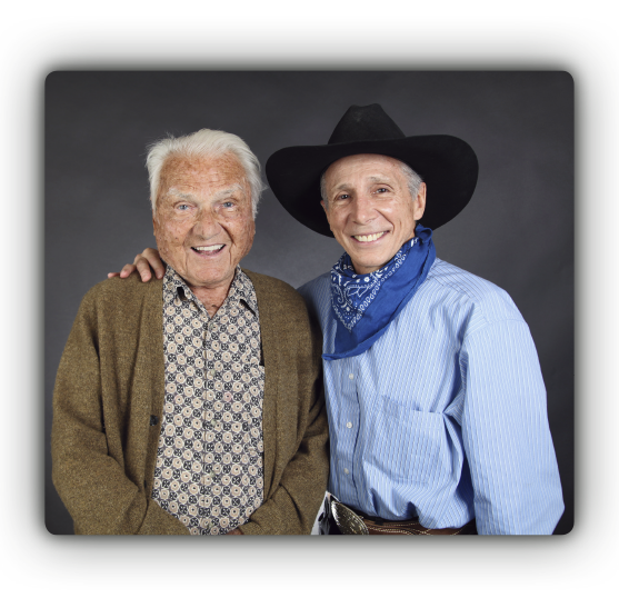 The Rifleman producer and co-founder Arthur Gardner, age 102 in 2012, with Johnny Crawford
