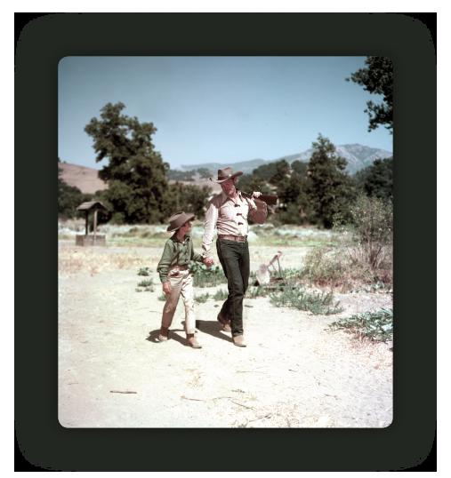 Mark and Lucas McCain walking