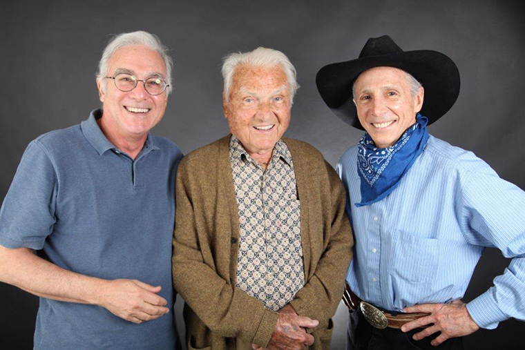 Steve and Arthur Gardner with Johnny Crawford